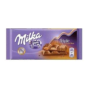 Chocolate Milka Triple Caramelo Caramel 90g Importado