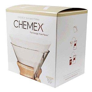 100 Filtros Quadrados Pré-dobrados Cafeteira Chemex Original