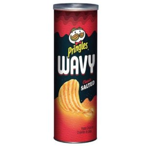 Batata Chips Pringles Wavy Classic Salted 130g Importado USA