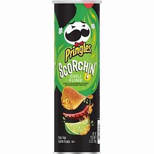 Batata Chips Pringles Scorchin Chili Lime Pimenta Limao 158G