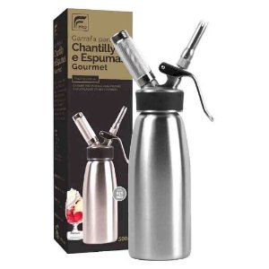 Garrafa Sifao Chantilly Espuma Inox 500 Ml Fpro Profissional