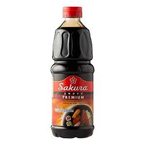 Molho Soja Shoyu Sakura Premium Para Sushi 500ml