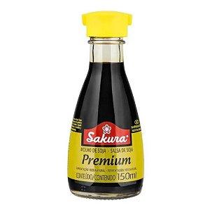 Molho de Soja Shoyu Sakura Premium Sem Glúten Vidro 150 ml