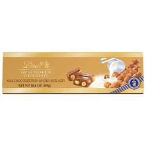 Chocolate Lindt Swiss Gold Bar Avelã Premium 300 G