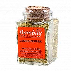 Tempero Lemon Pepper Bombay Vidro 90 gr