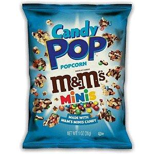 Pipoca Candy Pop Popcorn Coberta De Chocolate M&M Mini 28 gr
