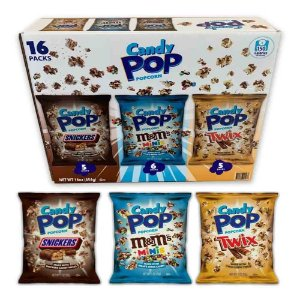 Caixa 16 Candy Pop Popcorn Snickers - Twix - Mini M&m's
