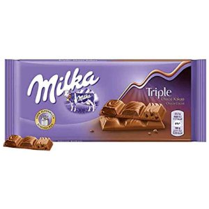 Chocolate Milka Triple Chocolate 90 Gr Importado