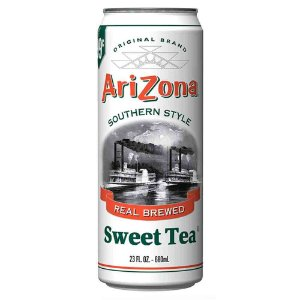 Cha Preto e Branco Doce Arizona Real Brewed Sweet Tea 680 ml