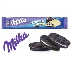 Chocolate Milka Chocolate Branco Oreo White 41 gr Importado