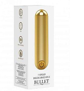 Bullet Recarregável  Super Potente com 10 Modos de Vibração