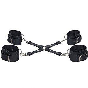 Kit BDSM Braceletes e Tornozeleiras