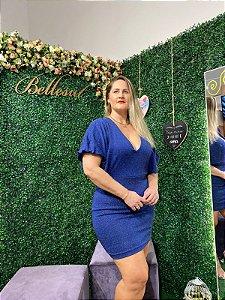 Vestido Balada Bellesul Lurex Azul