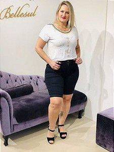 Bermudão Jeans Cós Alto