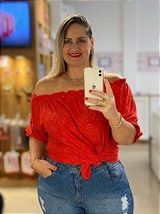 Blusa Ciganinha Lese Vermelha