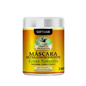 Máscara Limpeza Profunda Ervas Naturais 240g Soft Hair