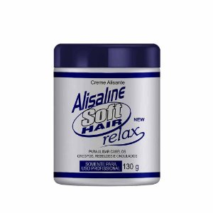 Alisante Alisaline Creme Azul (Sódio) - Concentrado 130g Soft Hair