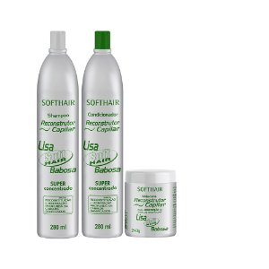 kit Reconstrutor Babosa Soft Hair (SH, Cond e Máscara)