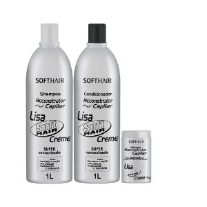kit Reconstrutor Lisa Soft Hair (SH 1L, Cond e Máscara 1kg)
