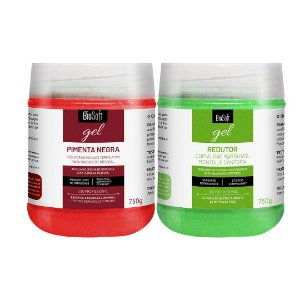 Kit Gel Redutor Algas 750g + Gel Pimenta Negra 750g