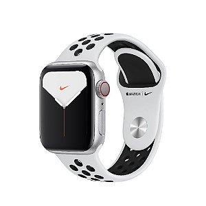 Apple Watch Nike Series 5 com Caixa Prateada de Alumínio + Pulseira Esportiva Nike - 40mm