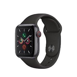 Apple Watch Series 5 (gps + Cellular) - 40mm - Caixa Cinza-espacial De Alumínio Com Pulseira Esportiva Preta