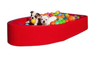 Piscina para Cachorro Barquinho Pet Vermelho Freso