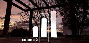 Coluna Decorativa Iluminada de Plástico Intermediária Freso