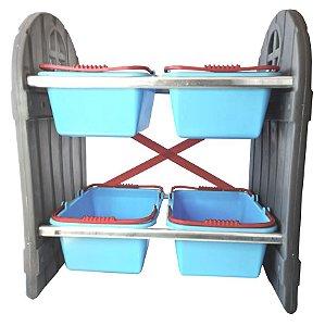 Mini Arrumadinho 4 Cestos Azul I Freso