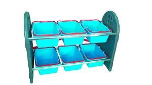 Mini Arrumadinho 6 Cestos Azul I Freso