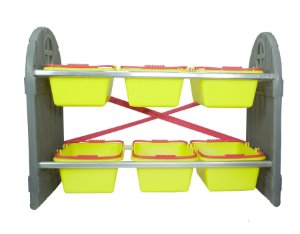 Mini Arrumadinho 6 Cestos Amarelo I Freso