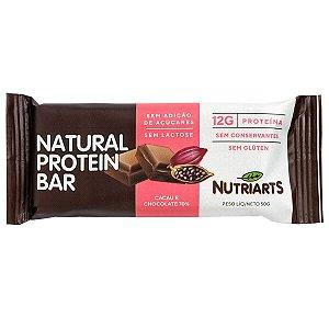 Natural Protein Bar Cacau e Chocolate 70% 50g