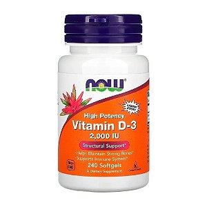 Vitamina D3 2.000 IU 240 cápsulas
