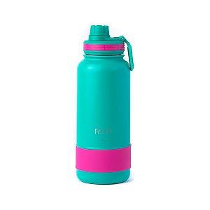 Garrafa Térmica Hydra Bottle Esmeralda e Pink 950ml