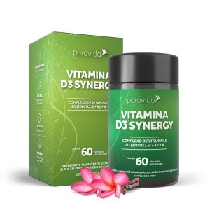 Vitamina D3 Synergy 60 Cápsulas