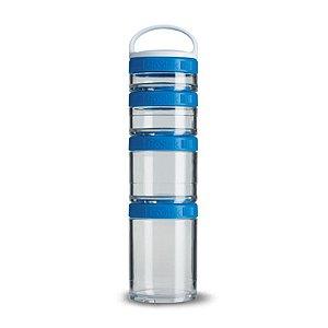 Porta Snacks GoStak Azul 4 compartimentos