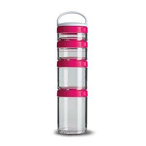 Porta Snacks GoStak Pink 4 compartimentos