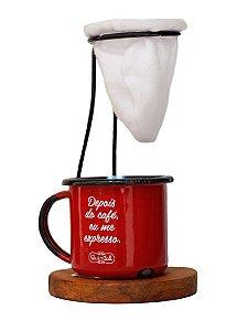 Xícara com Coador de Café Quintal
