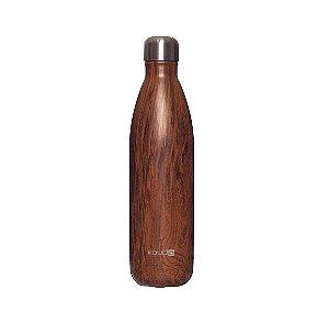 Garrafa Térmica Kouda Inox Wood Grey 500ml