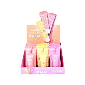 Hidratante Labial Glossy Balm Ruby Rose HB-8222 Box C/36 Unidades