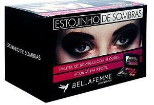 Estojinho de Sombras Opacas 18 Cores Bella Femme Box c/12 Unidades