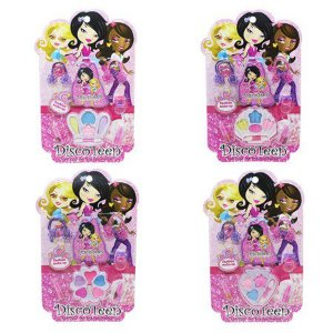 Estojo de Maquiagem Infantil DiscoTeen HB86507 C/ 4 unidades