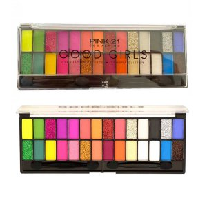 Paleta de Sombras 28 cores Matte Glitter Good Girl Lançamento Pink21 (2)
