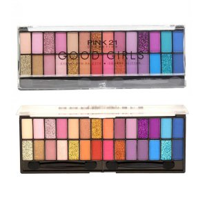 Paleta de Sombras 28 cores Matte Glitter Good Girl Lançamento Pink21 (1)