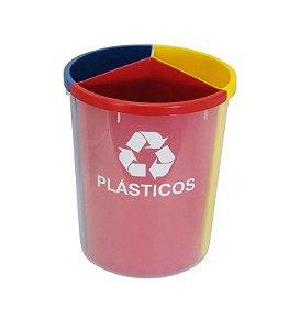 Lixeira Mix Plástica Com 3 Divisões