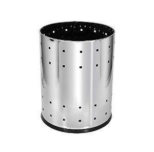 Lixeira Telada em Aço Inox 13L