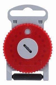 HF4 - Protetor de cera Vermelho para aparelho auditivo (Lado Direito) . Contém 15 Unidades