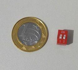 Chave DIP Switch - 2 vias (vermelha)