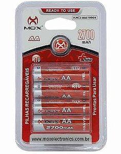 Pilha Recarregável AA 2700mAh- c/4 unidades