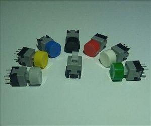 Chave Botão + capa colorida (8,5 x 8,5 mm)
